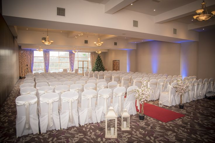 Great picture of a civil ceremony set up