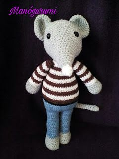 Bruno, fall mouse - crochet mouse - crochet toy amigurumi