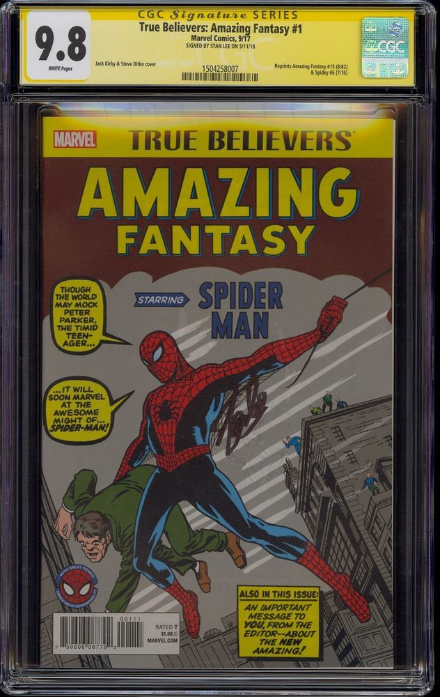 True Believers: Amazing Fantasy #1 CGC 9 8 Stan Lee