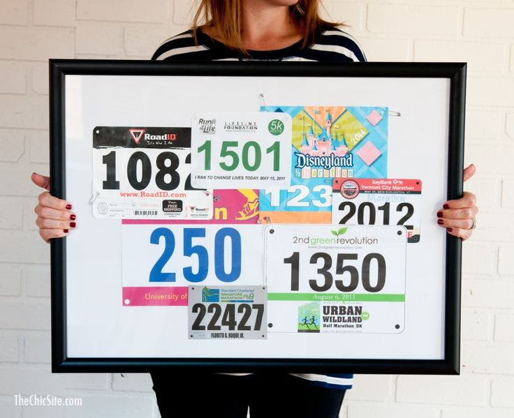 DiY Projects for Treasuring Your Race Bibs #runners