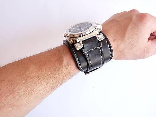 Infantry čierne kožené hodinky II