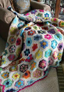 Priscillas: Daisy blanket , African flower blanket...more colour inspiration