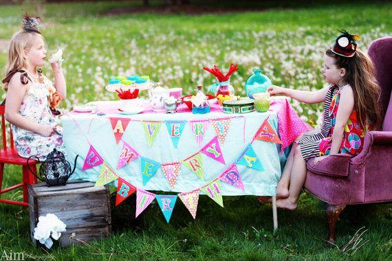 DIY Alice In Wonderland Party Banner Kit by atozebracelebrations, $18.99