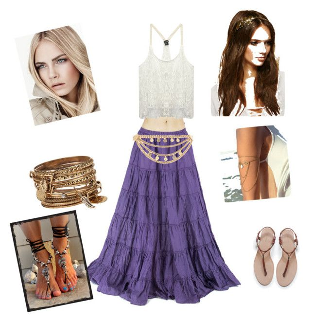 """""""DiY Gipsy Costume"""" by val-bradshaw-ruiz on Polyvore featuring Wet Seal, ALDO, Forever 21, Zara and River Island"""