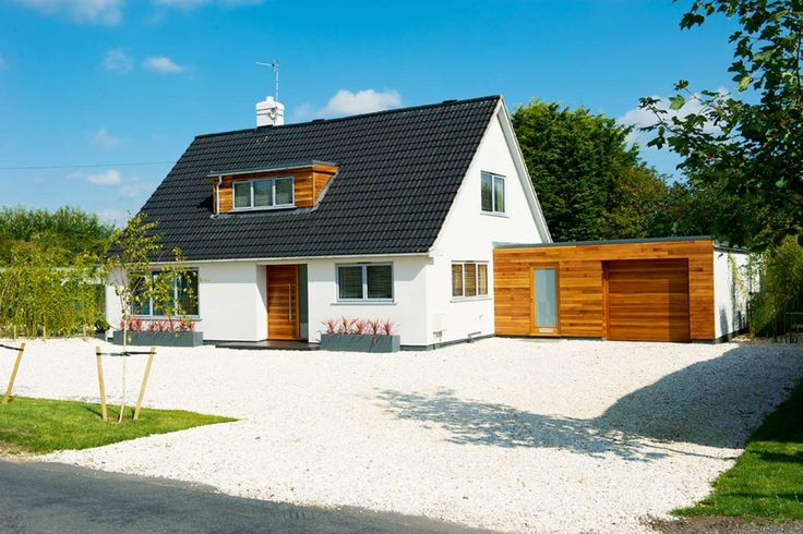 Exterior Design Small White Modern Nuance Of The Modern Bungalows Plans That Has Triangle Roof Can Add The Beauty Inside The Modern House Design Ideas With Small Wooden Garage Beside The House Awesome Design Modern Bungalow Plans