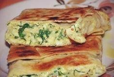 Фото к рецепту: Пирог из лаваша с сыром и зеленью