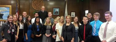 The Hon. James J. Di Cesare (Orange County Superior Court Judge) 18 local high school students during yesterday's Monarch Beach Sunrise Rotary Vocational Day https://plus.google.com/108942083870019378089/posts/DSEc2a1Ns7x
