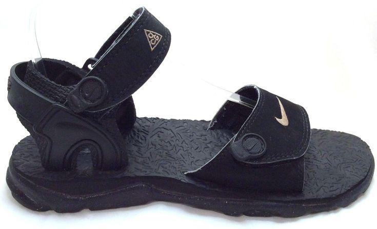 Nike Sz 7 Us Mens Black Acg Sport Strap Hiking Walking