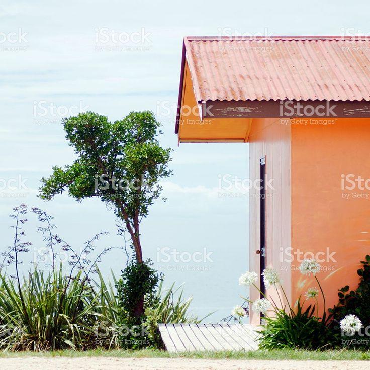 Kiwi Bach by the Beach royalty-free stock photo