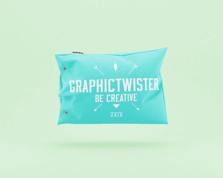 Color Pillow Mockup Colorful Pillows Presentation Design Free Mockup Templates