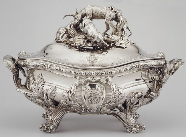 Tureen, 1757–59  Marked by Edme-Pierre Balzac (French, 1705–ca. 1786)  French; Paris  Silver