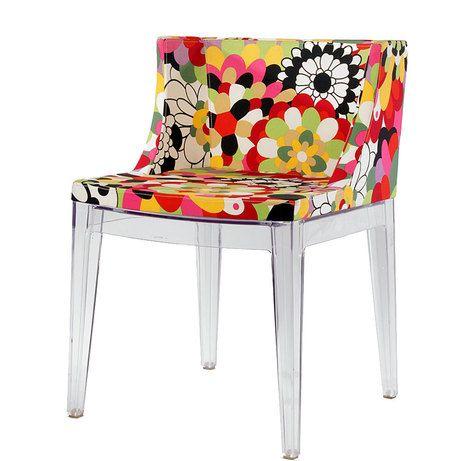 """СтулMademoiselle соединяет в себе минимализм современного дизайна и шик шестидесятых. Дизайн стула был разработан в 2003 году Филиппом Старком (Philippe Starck) и сразу стал """"любимцем"""" поклонников, и еще чаще поклонниц дизайнерской мебели по всему миру.Прозрачные ножки из поликарбоната добавляют стулуMademoiselle легкости и невесомости, а яркая тканевая обивка вносит оригинальность. Удобный, стильный и невероятно фотогеничный стул Mademoiselleдобавит красок в любое пространство В…"""