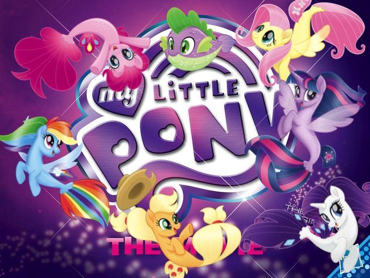 #1523277 - alicorn, applejack, cowboy hat, fish, fluttershy, hat, logo, mane six, my little pony: the movie, pinkie pie, rainbow dash, rarity, safe, siren, spike, spoiler:my little pony movie, twilight sparkle, twilight sparkle (alicorn) - Derpibooru - My Little Pony: Friendship is Magic Imageboard