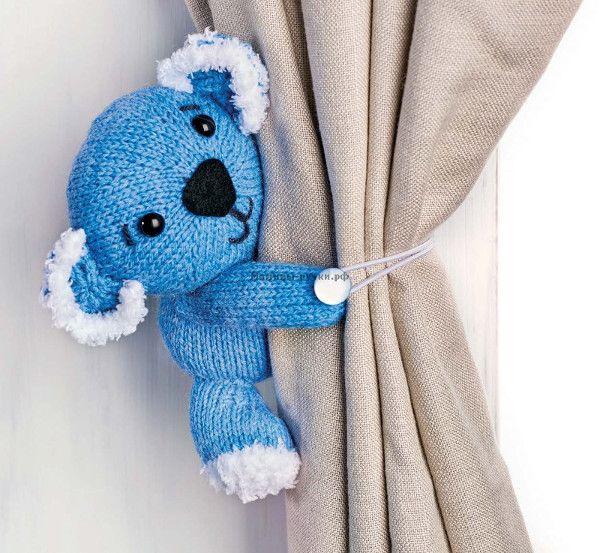 Коала Сид, вязаный спицами (sid the koala knitting)