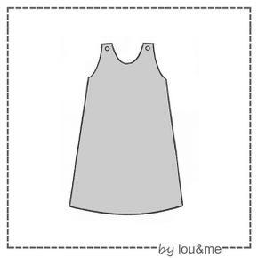 Patron gratuit d'une robe chasuble simple et jolie