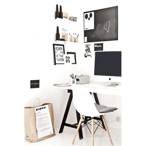 eames dsw stuhl in wei in 2018 arbeitsplatz im home office gestaltungsideen pinterest. Black Bedroom Furniture Sets. Home Design Ideas