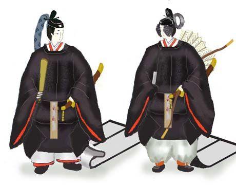 Men wearing heian robes