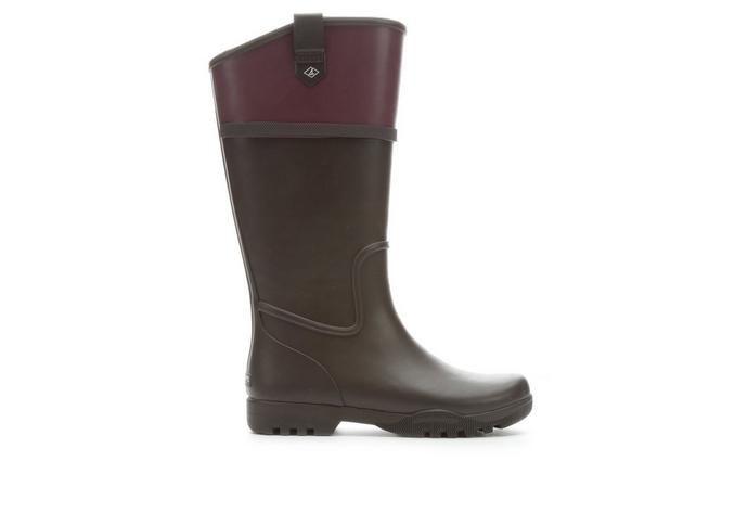 Women's Sperry Nellie Kate Rain Boots Grape/Dark Brow | Shoe Carnival