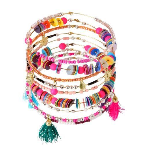 Lot de 10 bracelets Femme multicolore - Promod