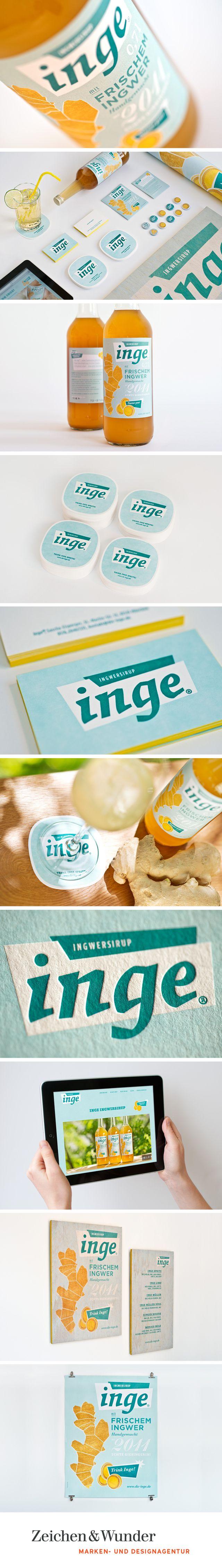 INGE INGWERSIRUP / Naming, Brand Design und Packaging / #Inge #Ingwersirup / by Zeichen & Wunder, München
