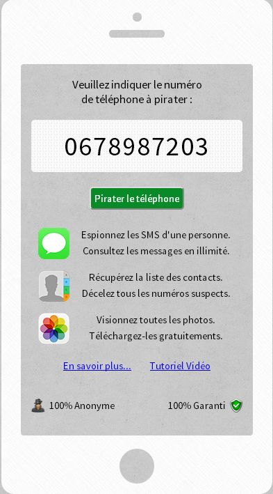 comment pirater un telephone portable sms