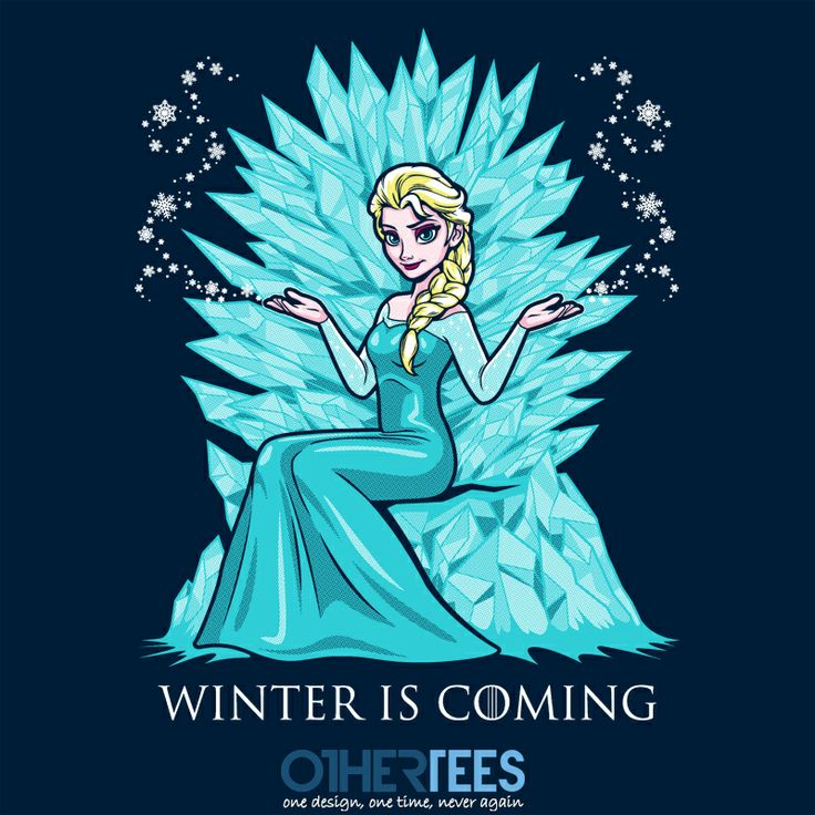 Winter is Coming by harebrained Shirt on sale until 10 April on http://othertees.com #frozen #gameofthrones