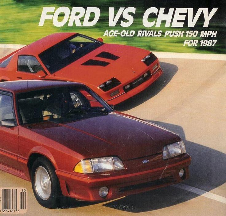 1987 Ford Mustang Gt Vs 1987 Chevrolet Camaro Iroc Z