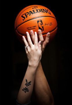 basketball picture with Chinese symbol tattoo. May be fitting for some Chinese basketball players, not for me.