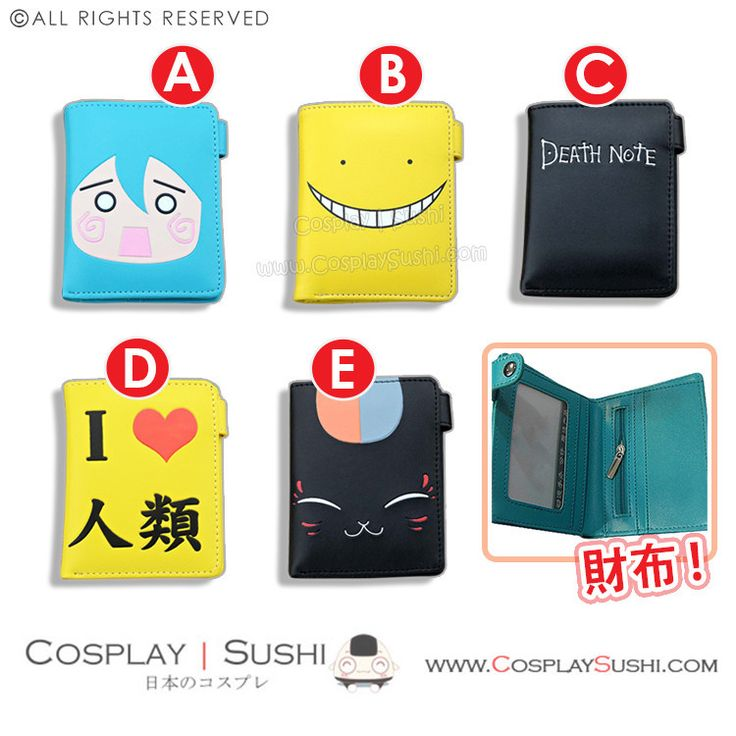 Get our Anime Collectible Leather Wallet!  SHOP NOW ► http://bit.ly/1VMmY92 Follow Cosplay Sushi for more cosplay ideas! #cosplaysushi #cosplay #anime #otaku #cool #cosplayer #cute #kawaii #Leather #Wallet
