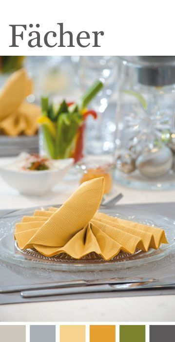 20 best servietten falten images on pinterest napkins for Servietten falten festlich