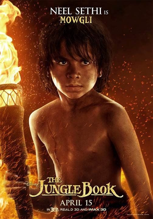The Jungle Book movie poster effectively portrays a warm yet dark tone for the film