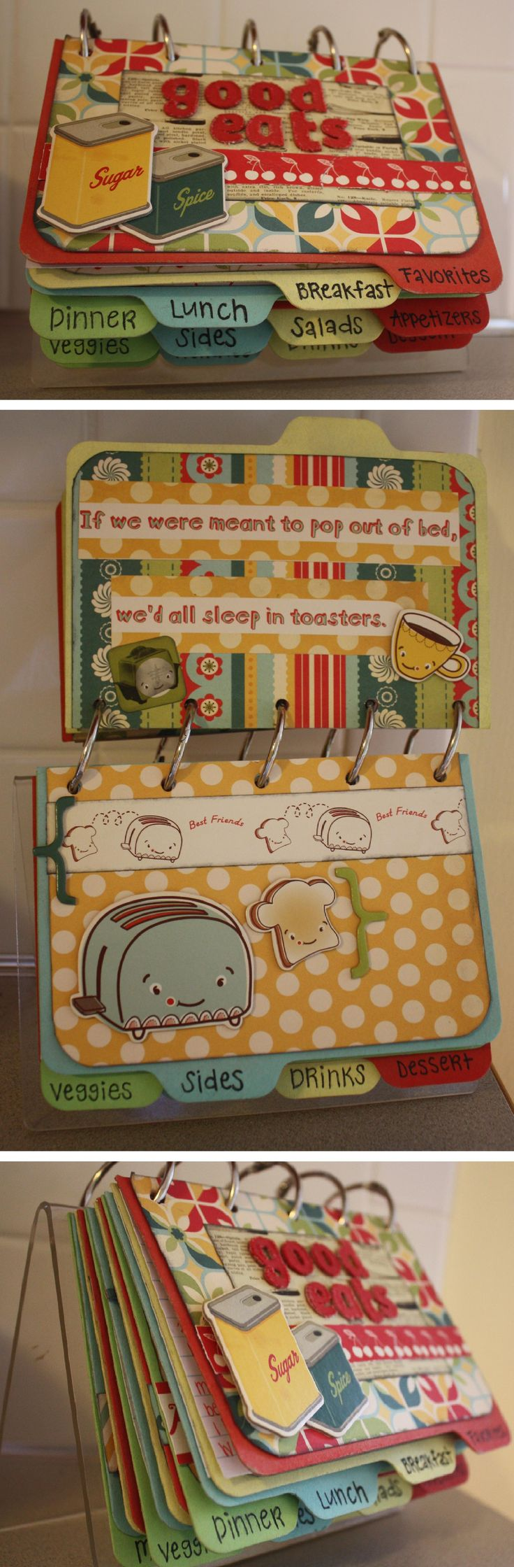 recipe book...this would be great for the kids to have their own books then they can take it w/ them when they move out.