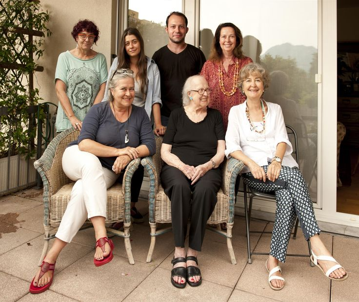 Bibi grandmother's birthday. Lugano July 19, 2014. Silvana, Malvina, Giorgio, Laura Cinzia, Bibi, Anna #ganzinelling