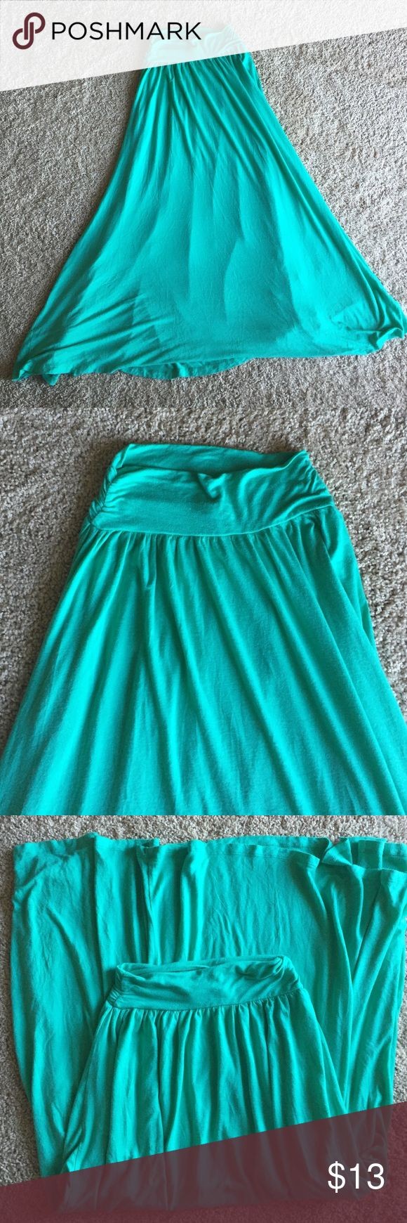 Mint Green Maxi Skirt Super cute and comfortable mint green maxi skirt! Great condition. Skirts Maxi