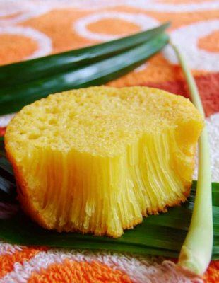Bika Ambon is a kind of cake from Indonesia. Made from ingredients such as tapioca and sago flour, eggs, sugar and coconut milk.