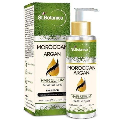 Buy St.Botanica Moroccan Argan Hair Serum Online For All Hair Types & Beard. -> Nourishes, Softens, Moisturizes and Promotes Hair Shine Glow. -> Protects the Hair From Environmental Damages.