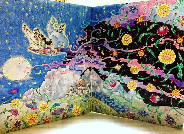 #旅するディズニー塗り絵 #コロリアージュ #大人の塗り絵 #アラジン #aladdin #coloring #coloringbook