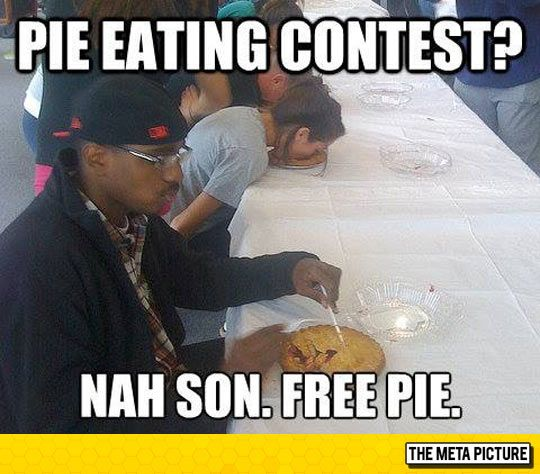 Me On Pie Eating Contest