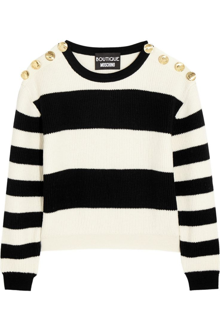 Boutique Moschino striped wool sweater