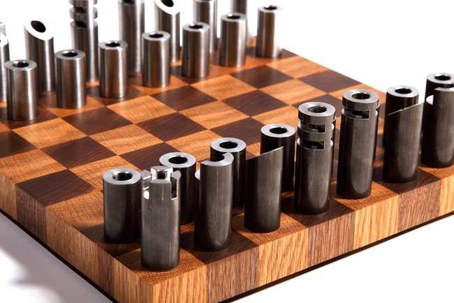 post-modern cylindrical chess sets | chess sets, chess and modern