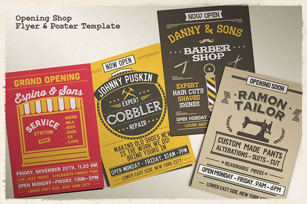 Opening Shop Flyer & Poster Template on Behance