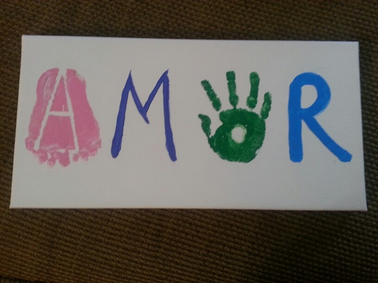 Hand & Feet prints for Monther's Day!