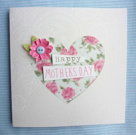 Beautiful Handmade Mother's Day Card by KatieElliottDesigns, £3.00