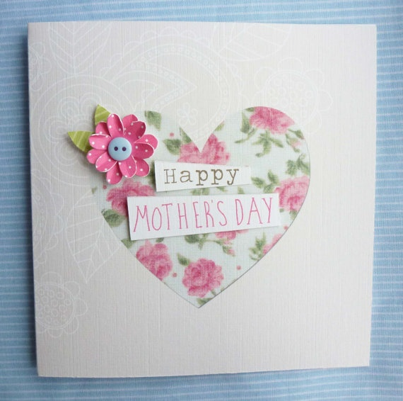 Beautiful Handmade Mother's Day Card by KatieElliottDesigns, £3.00