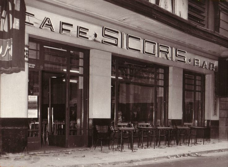 "Barcelona Años 50 ""Café-bar SICORIS""  La Rambla, nº 38"