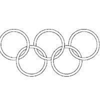 Desenho de Aros dos Jogos Olímpicos para colorir                                                                                                                                                      Mais