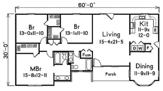 El plano de hoy es ideal para los que tienen terrenos grandes, permite extenderse lo ancho del terreno, dando buena iluminación y vista a todos los ambientes. La casa cuenta con 3 habitaciones, 2 baños (uno de ellos en suite), un living enorme, cocina y comedor. Relacionado