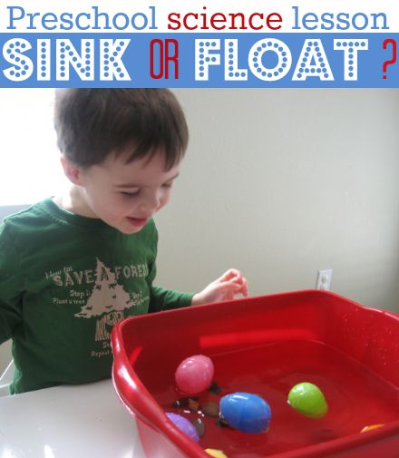 Fun twist using Pastic Easter eggs for the classic preschool science activity - sink or float.