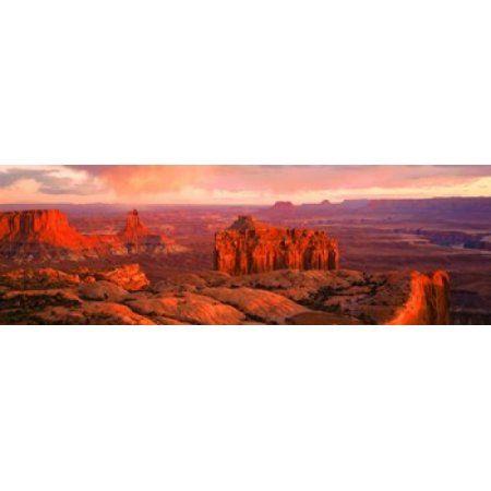 Canyonlands National Park UT USA Canvas Art - Panoramic Images (36 x 12)
