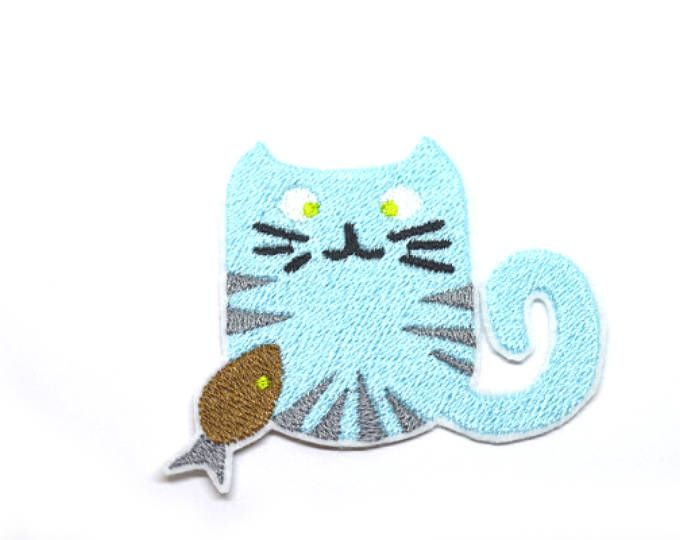 Boy Cat Patch Iron On  Applique Embroidered Patches Machine Embroidery Design for cat-lover